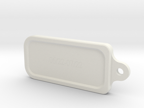 Cancer key ring in White Natural Versatile Plastic