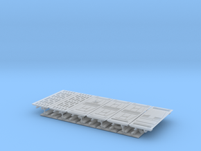 YT1300 DEAGO DIORAMA DET STAR WALLS in Smooth Fine Detail Plastic