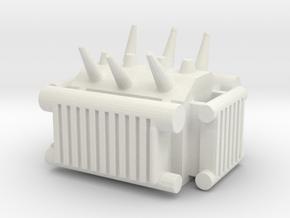 Electrical Transformer 1/200 in White Natural Versatile Plastic