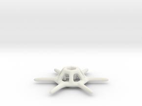 Distephanus Speculum - Small in White Natural Versatile Plastic