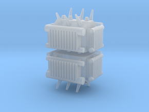 Electrical Transformer (x2) 1/285 in Smooth Fine Detail Plastic