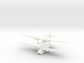 Me-323E2/WT German Gun Ship- Global War - (Qty. 2) in White Processed Versatile Plastic