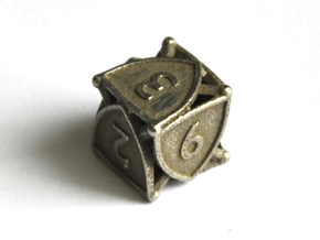 D6 Balanced - Shield in Polished Bronzed-Silver Steel