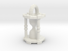 HourglassPendant in White Strong & Flexible