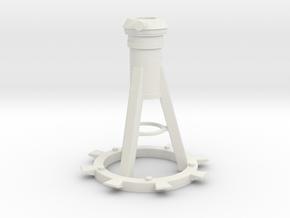 1/16 Mk10 Mount for 20mm Oerlikon in White Natural Versatile Plastic