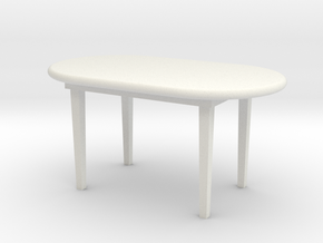Table in White Natural Versatile Plastic