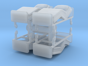 Hospital Bed (x4) 1/100 in Smooth Fine Detail Plastic