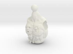 Voodoo Priest in White Natural Versatile Plastic