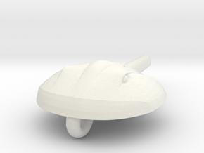 Horseshoecrab Necklace in White Natural Versatile Plastic
