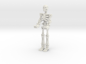 Skeleton Phone Holder in White Natural Versatile Plastic: Large