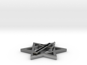 Transcending Cross Pendant in Premium Silver