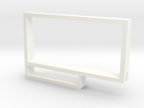 Cassette case card carrier in White Processed Versatile Plastic