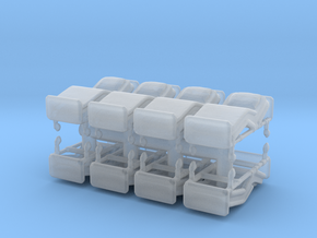 Hospital Bed (x8) 1/160 in Smooth Fine Detail Plastic