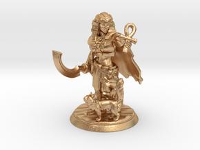 Egyptian Queen Miniature in Natural Bronze