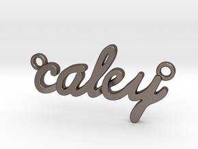 Name Pendant - Caley in Polished Bronzed-Silver Steel
