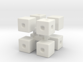 Corner Blocks Die  in White Natural Versatile Plastic