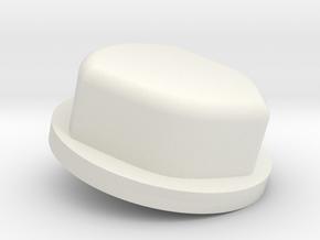 MirTon button (optional) in White Natural Versatile Plastic