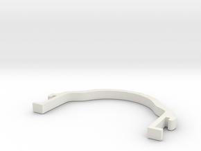 Body clamp for mini-z 52mm in White Natural Versatile Plastic