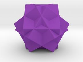 Escher's Tri-cube in Purple Processed Versatile Plastic