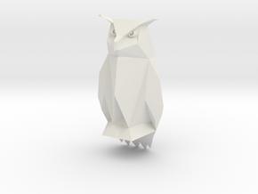 Tesla Owl  in White Natural Versatile Plastic