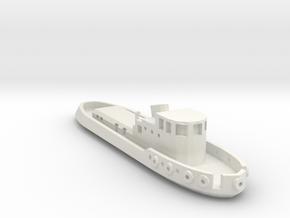 005A 1/350 Tug boat in White Natural Versatile Plastic