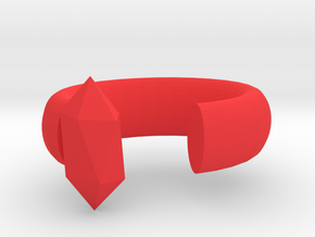 Red dot low-key jewelry in Red Processed Versatile Plastic