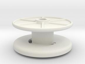 stringreel Diameter 4, 2 wide in White Natural Versatile Plastic