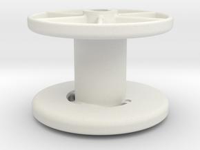 stringreel diameter 4, 3 wide in White Natural Versatile Plastic