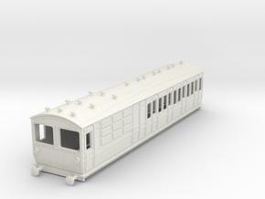 o-87-met-ashbury-bogie-brake-3rd-motor-coach in White Natural Versatile Plastic