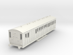 o-87-met-ashbury-bogie-brake-3rd-coach in White Natural Versatile Plastic