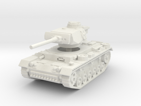 Panzer III L 1/120 in White Natural Versatile Plastic