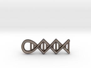 DNA pendant in Polished Bronzed Silver Steel