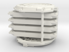 1/10 Panther D Prototype Engine vents  in White Natural Versatile Plastic
