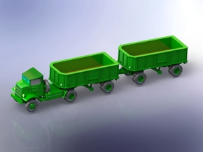 Autocar U-7144-T Truck w. 5t Trailer 1/220 in Smooth Fine Detail Plastic