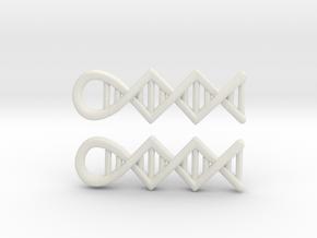 DNA earrings in White Natural Versatile Plastic