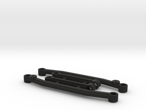 SCX24 Improved Steering Linkage Set in Black Natural Versatile Plastic