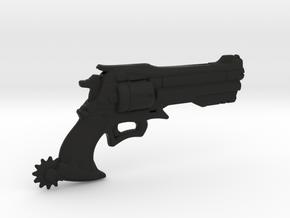 Cowboy revolver in Black Natural Versatile Plastic