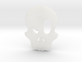 Eyebrow Skull Pendant (Small) in Smooth Fine Detail Plastic