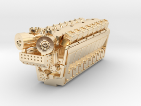 Industrial Engine 16cyl 8200HP in 14K Yellow Gold: 1:160 - N