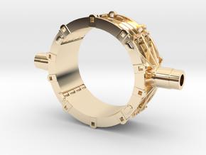Mesta Toroidal Steel Mill Casting Model in 14K Yellow Gold: 1:87 - HO