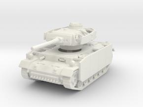 Panzer III M (schurzen) 1/120 in White Natural Versatile Plastic