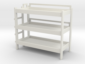 Triple Bunk Bed 1/43 in White Natural Versatile Plastic