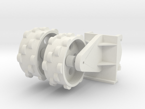 verdichtingswiel versie 2 in White Natural Versatile Plastic