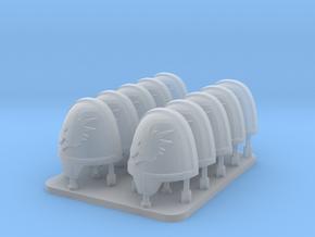 Space Dragons V10 Primus Rimmed Shoulder Pads in Smooth Fine Detail Plastic