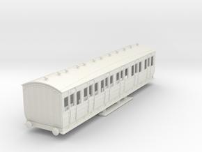 o-76-met-orig-ashbury-bogie-composite-coach in White Natural Versatile Plastic