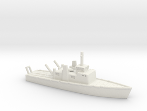1/600 Scale 102 Foot Torpedo Weapons Retriver in White Natural Versatile Plastic