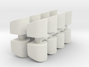 Rounded Chair (x16) 1/144 in White Natural Versatile Plastic
