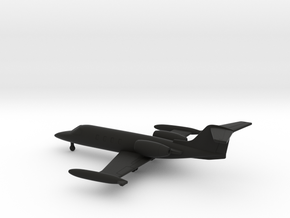 Learjet 35A in Black Natural Versatile Plastic: 1:200