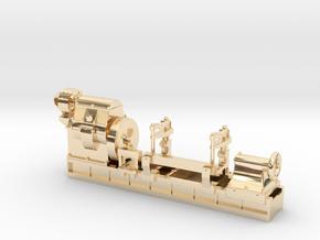 Mesta Machine Roll Turning Lathe in 14K Yellow Gold: 1:87 - HO