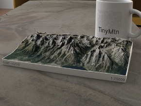Grand Tetons, Wyoming, USA, 1:75000 in Natural Full Color Sandstone